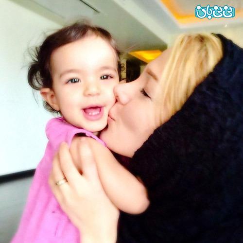 عکس همسر و فرزند رضا صادقی در اینستاگرام