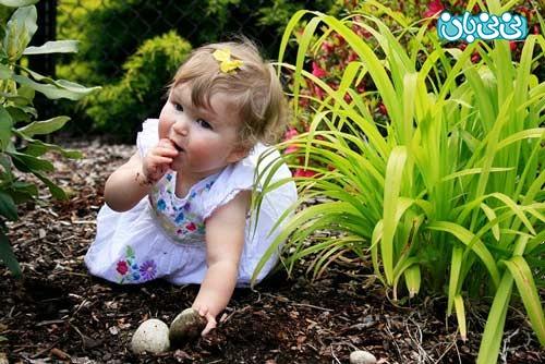 چرا کودکم خاک مهر میخورد؟