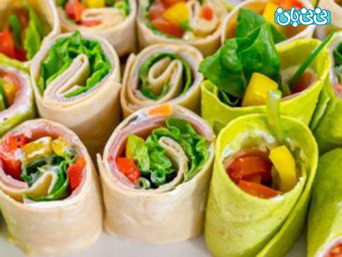 غذای زیبا برای کودکان، ساندویچ رنگارنگ