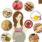 غذای مضر در بارداری، نمونه رژیم غذایی