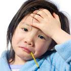 سرماخوردگی کودک، تب شدید و ناگهانی