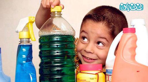 مسمومیت مواد شوینده در کودکان