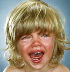 علت گریه کودک، سرم رفت