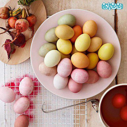 سفره هفت سین کودکانه، تخممرغهای رنگی رنگی