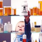 مسمومیت کودک با مواد شوینده، استفراغ می کنه!