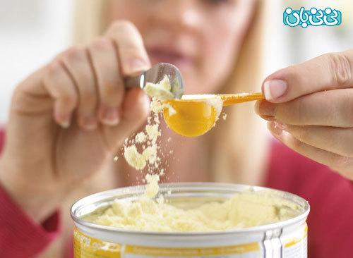 ترکیب شیر خشک با شیر مادر