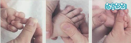 ماساژ دادن نوزاد، آخیش