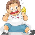 علت چاقی در کودکان، خورد و خوراک کارشه