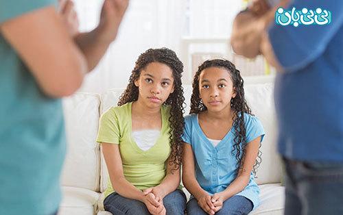 رفتارهای نادرست والدین، جلوی فرزندان