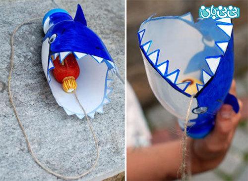 موزش ساخت کاردستی واسباب بازی نهنگ و ماهی