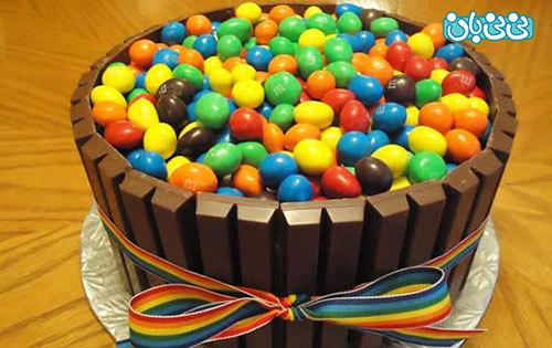 اموزش کیک تولد فانتزی، استخر اسمارتیز