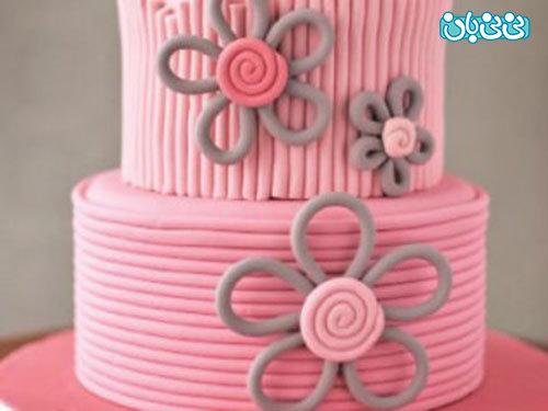 آموزش کیک تولد دخترانه