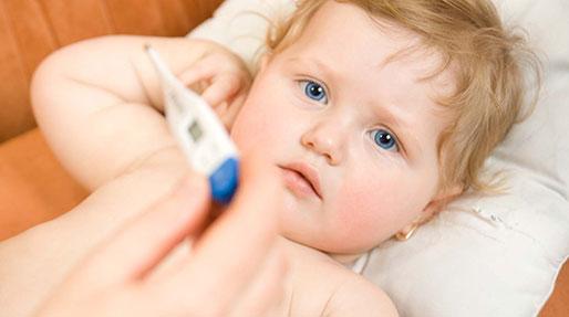 علت کاهش وزن بچه، تب دارد