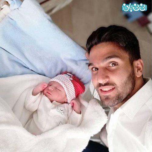 ساسان انصاری سپاهان، خوشحالی مهاجم از پدر شدن!
