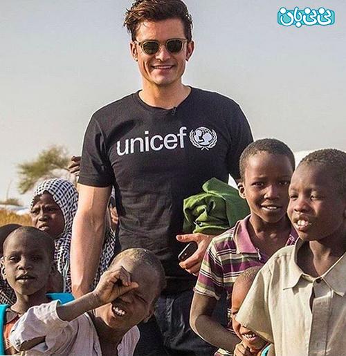 اورلاندو بلوم عکس، تبریک یونیسف به سفیر کودکان