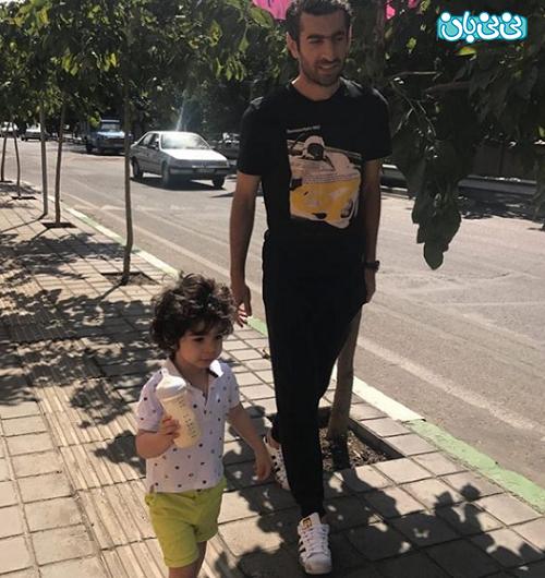 اینستاگرام مجتبی جباری، پیاده روی پدر و پسر