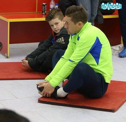 اینستاگرام سرور جباروف، تمرین حرفه ای پدر و پسر