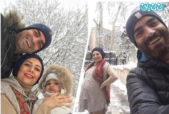 اینستاگرام یکتا ناصر، سوفیا و اولین برف زمستانی