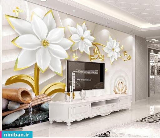 پوستر سه بعدی طرح گل