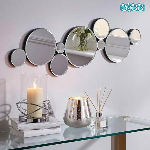 آینه کاری مدرن و شیک مناسب پذیرایی، انتخاب برای خانم ها