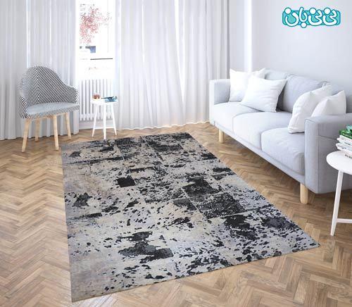 فرش فانتزی طرح آبرنگی مناسب اتاق خواب